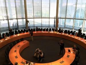 Europasaal vor Beginn der Sitzung