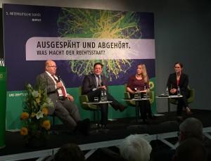 Diskussionsrunde: Peter Altmaier, Konstantin von Notz, Constanze Kurz, Moderation: Anna Sauerbrey