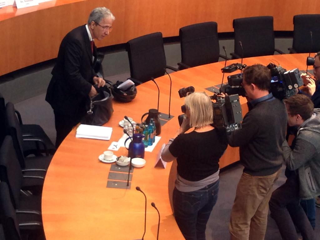 Kurt Graulich vor der Sitzung des NSA-Untersuchungsausschusses