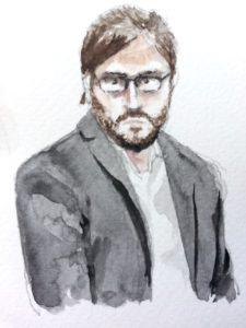 Chris Soghoian, ACLU | Zeichnung: © Stella Schiffczyk