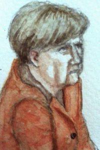 Angela Merkel | Zeichnung: © Stella Schiffczyk